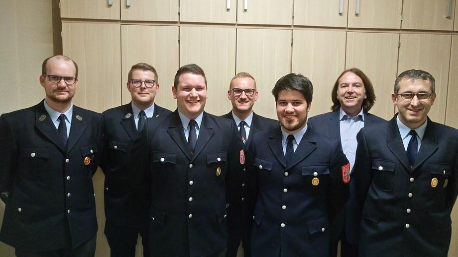Vorstandschaft, Feuerwehr, Steinmark, Kommandant, Vorsitzender, Schriftführer, Bürgermeister, Kassenwart
