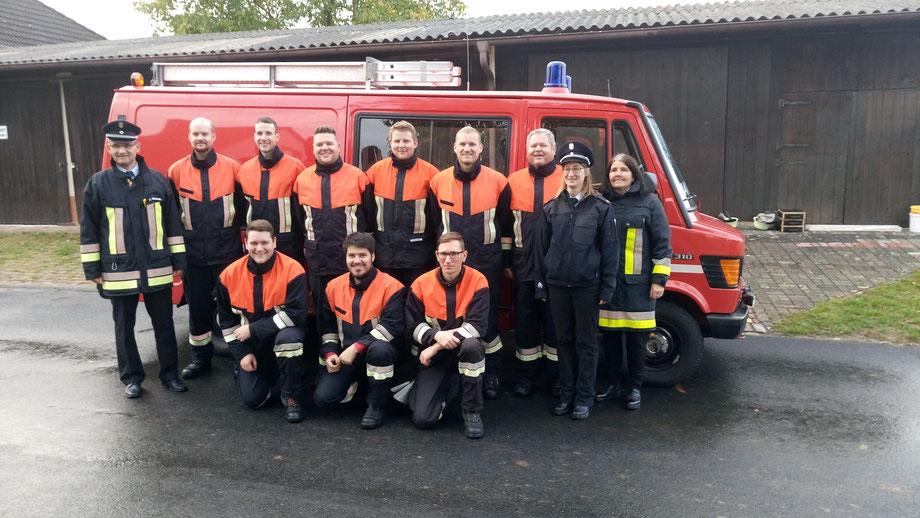 Feuerwehr, Leistungsprüfung, Gruppe im Löscheinsatz, Steinmark, Feuerwehr Steinmark