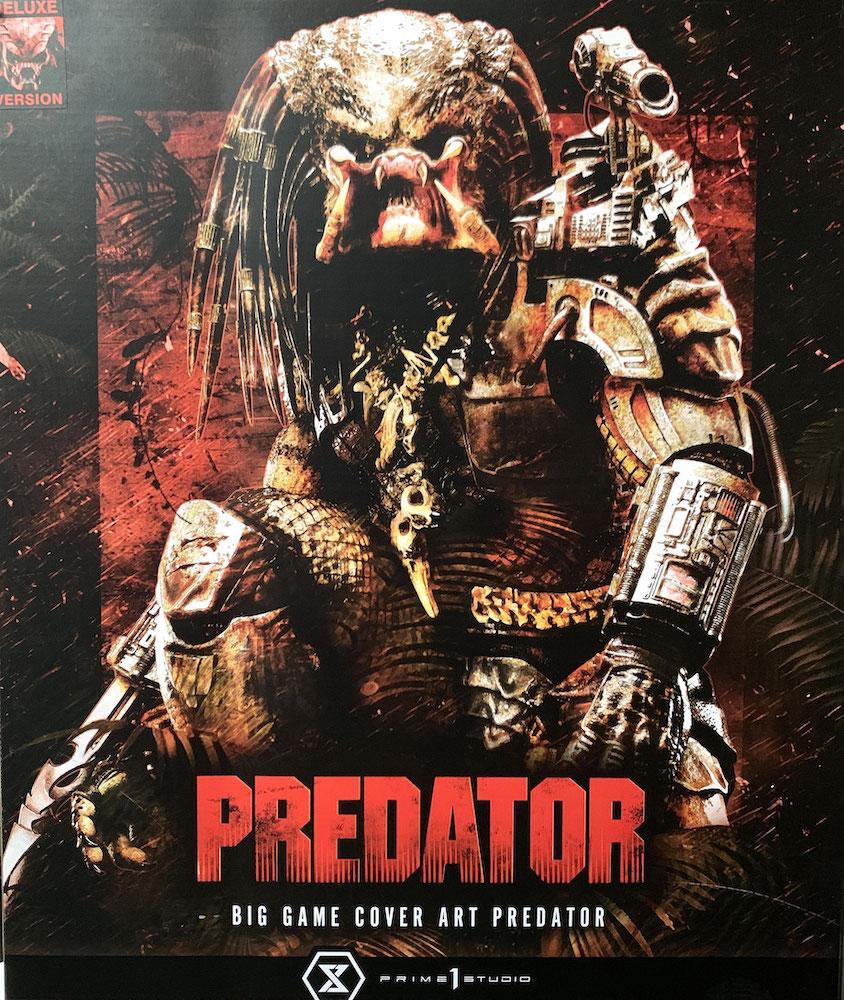 Predator Big Game Cover Art Predator Deluxe Version 72cm Statue Prime 1 Studio