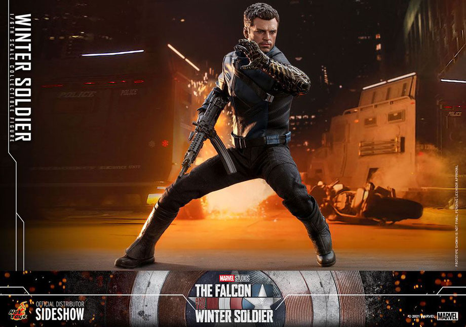 Winter Soldier 1/6 (Bucky) The Falcon and The Winter Soldier Marvel Actionfigur 30cm Hot Toys