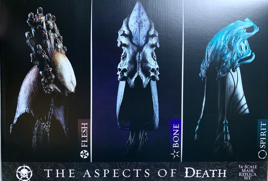 The Aspects of Death Mask 1/4 Court of the Dead Masken 3er-Pack Polystone 20cm Sideshow SS200545