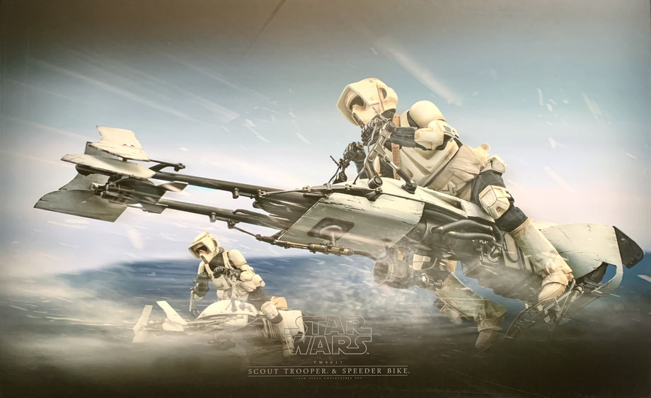 Scout Trooper & Speeder Bike 1/6 Star Wars Mandalorian Tv Series Masterpiece Actionfigur Set 30cm Hot Toys