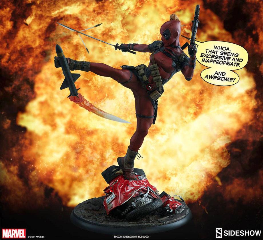 Lady Deadpool 1/4 Premium Format Marvel Comics 56cm Statue Sideshow SS300546