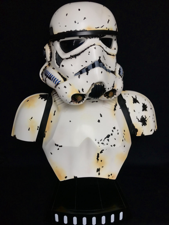 Stormtrooper 1/1 Life-Size Büste Star Wars Mandalorian Remnant Ts-Collectibles repaint 68cm Sideshow