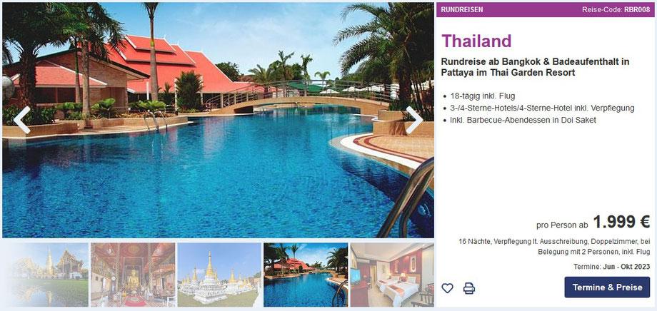 Asien Kombiknüller geführte Gruppenreisen in Thailand, Vietnam, Kambodscha, Sri Lanka mit Tour Vital Rundreise und Baden Mai Juni September Oktober November