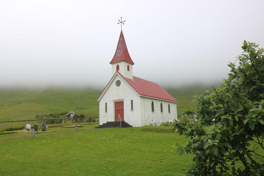Eglise de Reyniskirkja près de Vik i Myrdal en Islande