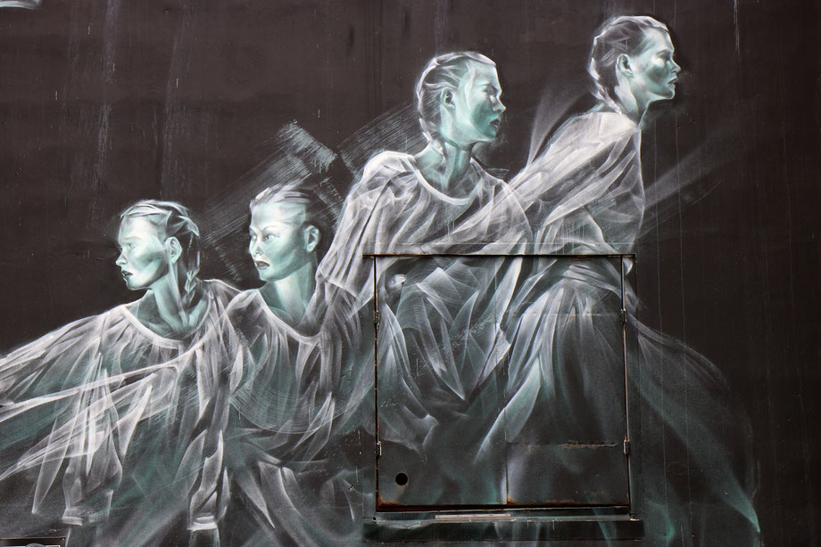 Street art de Li Hill à Reykjavik en Islande