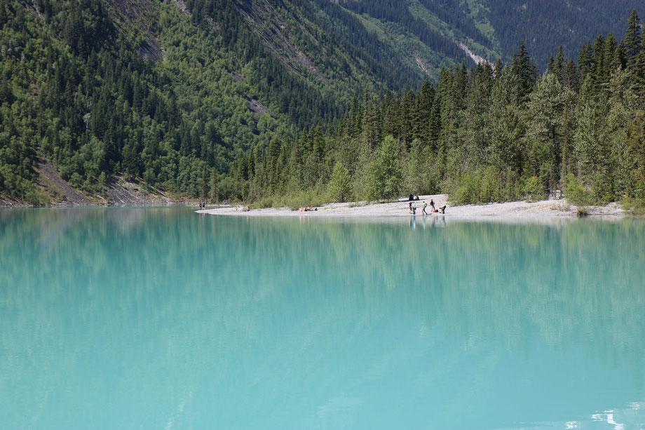 Kinney Lake sur le Berg Lake Trail dans le Mount Robson Provincial Park (Colombie-Britannique - Canada)