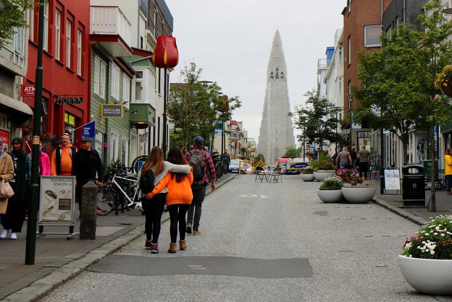 Eglise de Hallgrimskirkja à Reykjavik en Islande