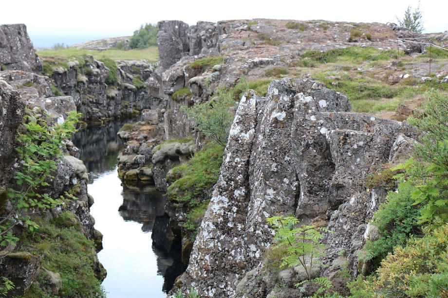 Faille de Thingvellir dans le Cercle d'Or en Islande
