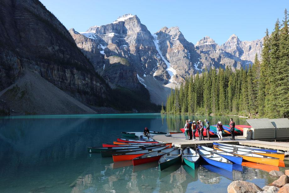 Moraine Lake à Lake Louise dans le Banff National Park (Alberta - Canada)