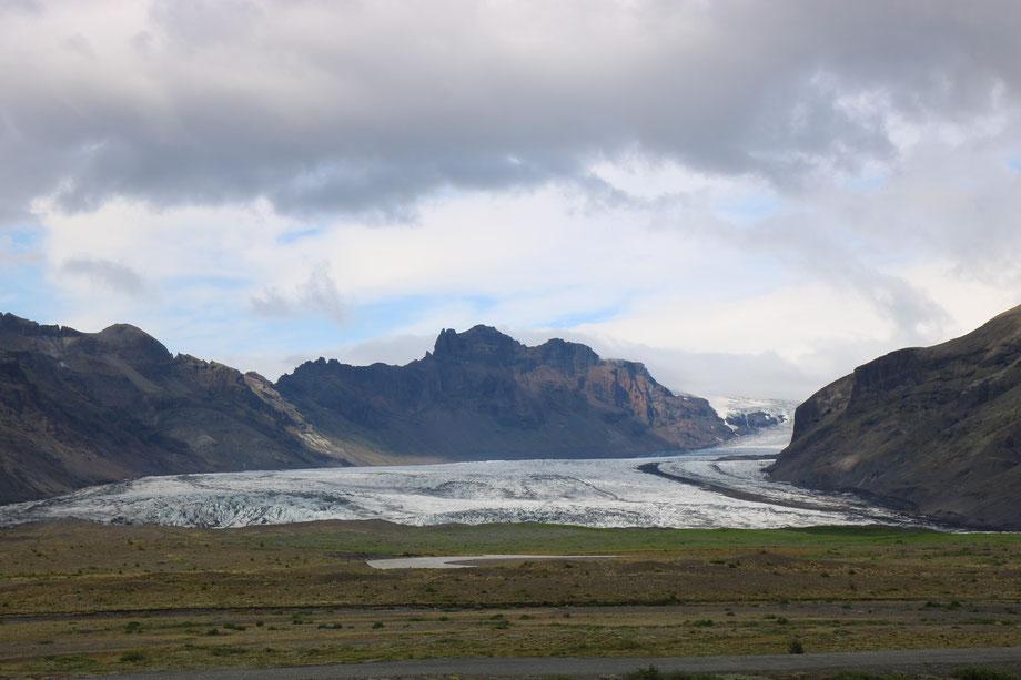 Glacier Skaftafellsjökull dans le parc national de Skaftafell en Islande
