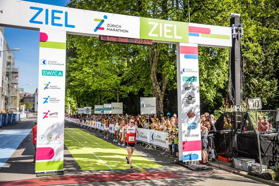 Zürich Marathon 2018, mein erst zweiter Marathon nach drei Jahren Halbmarathon, mit toller Zeit trotz heissen Temperaturen (Foto: Sportograf)