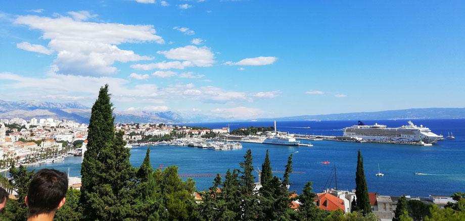 Kreuzfahrtschiff in Split/Kroatien (Foto:David Keller)
