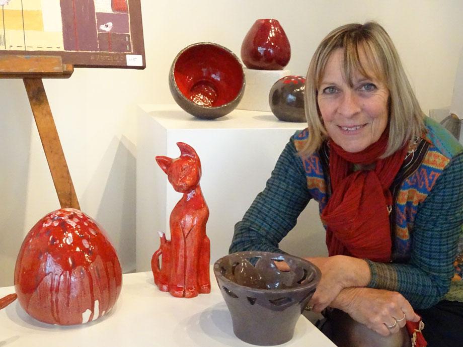 L'artiste Michèle Mathis.