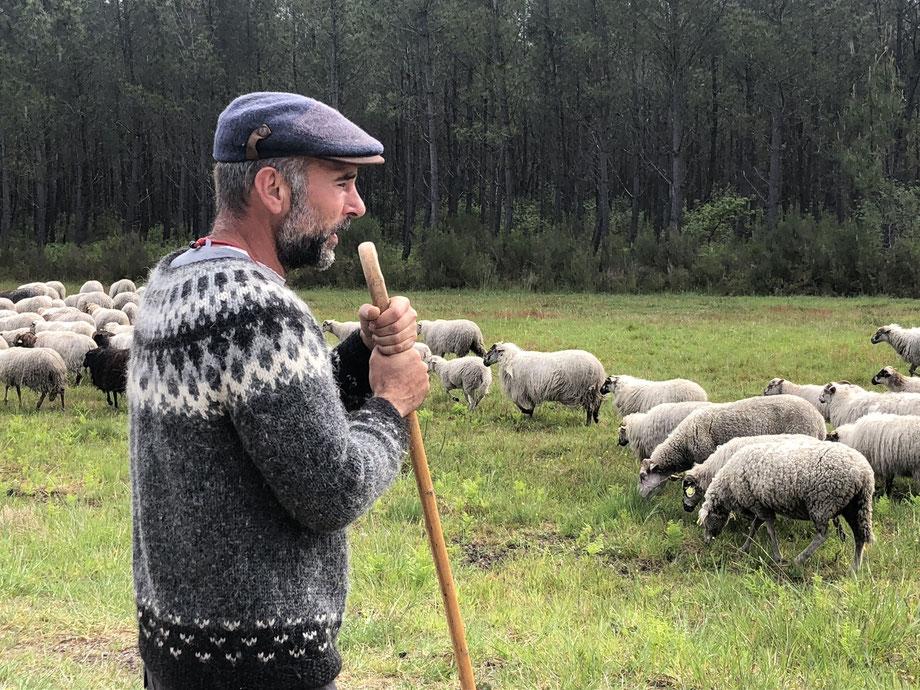 L'éleveur François-Xavier Riffaux. /Photo Corentin Barsacq