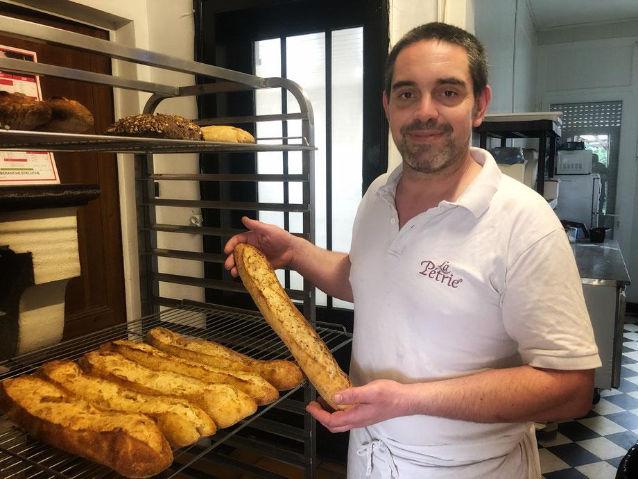 Frédéric Drouin, boulanger pâtissier du Fournil. /Photo Corentin Barsacq