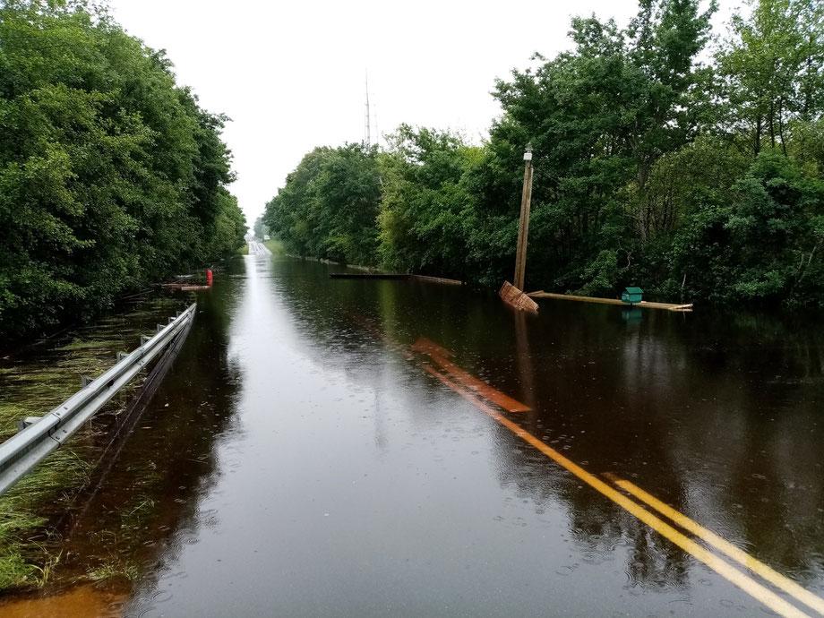 Inondations à Salles en mai 2020.