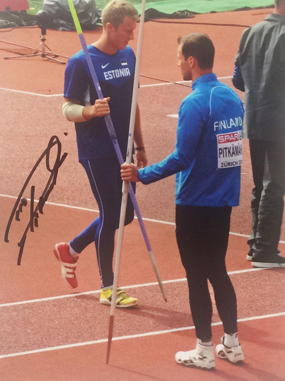 10.11.2017 4 Autographs of Tero Pitkämäki Finland Javelin