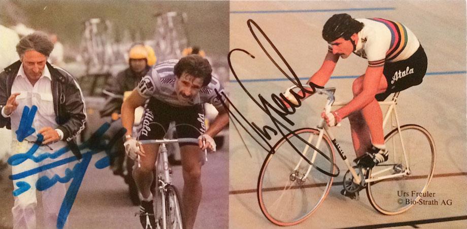 Autograph Urs Freuler Ferdy Kubler Autogramm