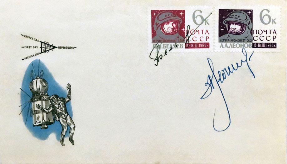 Autograph Pavel Belyayev Alexei Leonov Autogramm