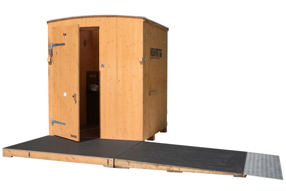 Miet WC, Kompotoi Komposttoilette, Holztoilette Toilette für Ihr Fest, kompostklo, ökoklo ,ökotoi, Behinderten, behindert, handicap toilet, barrierefreies mobiles klo
