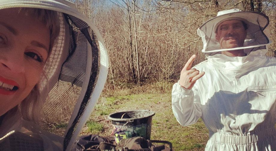 ruche de la ferme biologique de la Millanchère