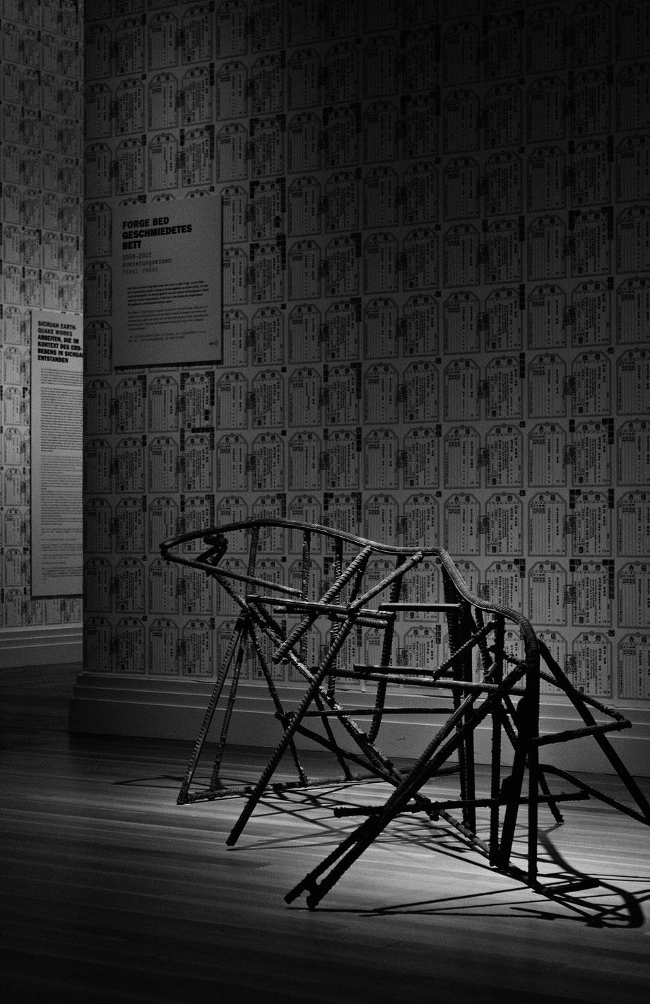 Ai Wei Wei Forge Bed Geschmiedetes Bett Exhibition Berlin Martin Gropius Evidence Laura Deberle Fotografie Documentation Photography