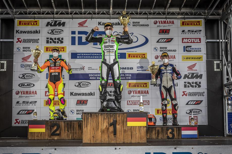 Marvin Siebdrath gewinnt das IDM Rennen 2021 in Oschersleben
