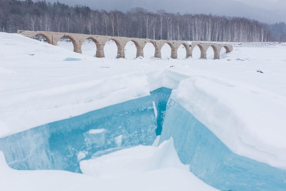 2019年2月13日のタウシュベツ川橋梁