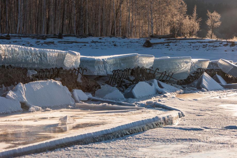 2020年1月15日のタウシュベツ川橋梁の様子