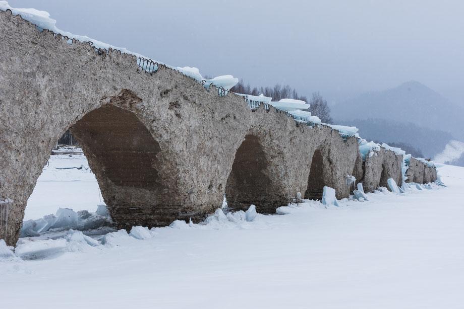 2020年1月29日のタウシュベツ川橋梁