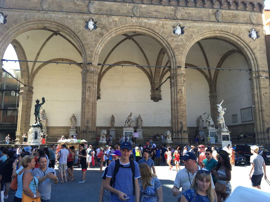 Uffizien Toskana Florenz Loggia dei Lanzi