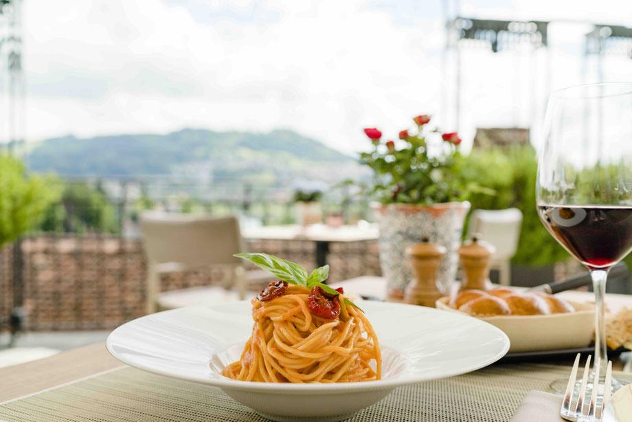 Spaghettini mit Piennolo-Tomaten