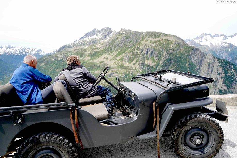 Richtiges Abenteuer-Feeling kommt mit dem original Schweizer Militär-Jeep Willys aus dem Jahr 1951 auf