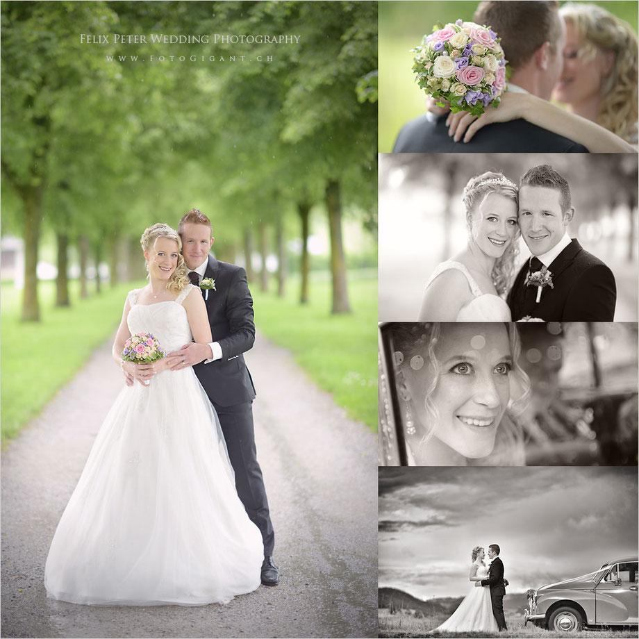 """Ein glückliches Hochzeitspaar - Ein Fotoshooting mit Oldtimer """"Mr. Muffin"""""""