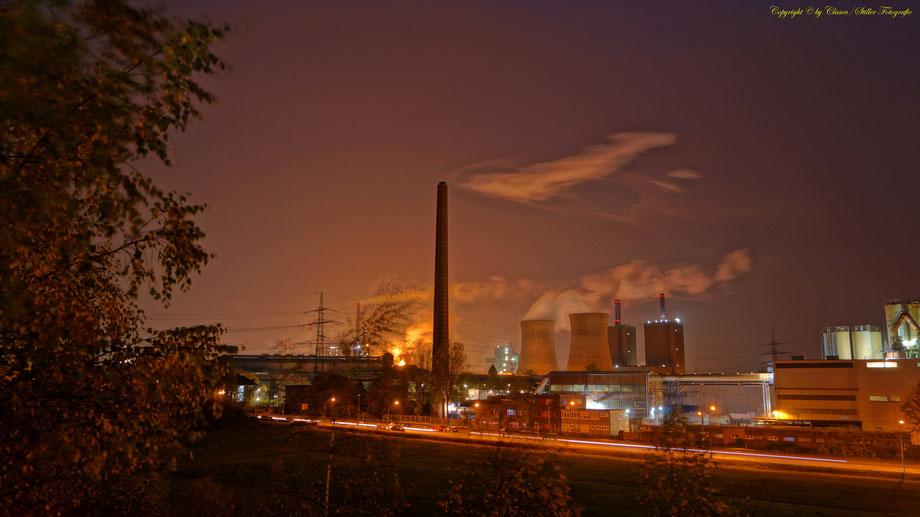 Nachtaufnahme, Langzeitbelichtung, Baum, Sonnenaufgang, Duisburg,