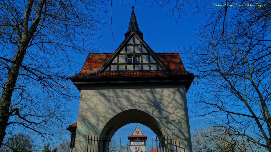 Brandenburger Tor, Berlin, Sonnenstrahlen, Wolken, Sonnenuntergang
