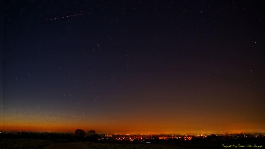 Nachtaufnahme, Langzeitbelichtung, Baum, Sonnenaufgang, Sterne,