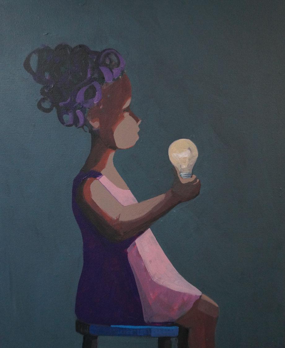 bulb - Acryl auf Leinwand, 60x50cm, 2015 | verkauft