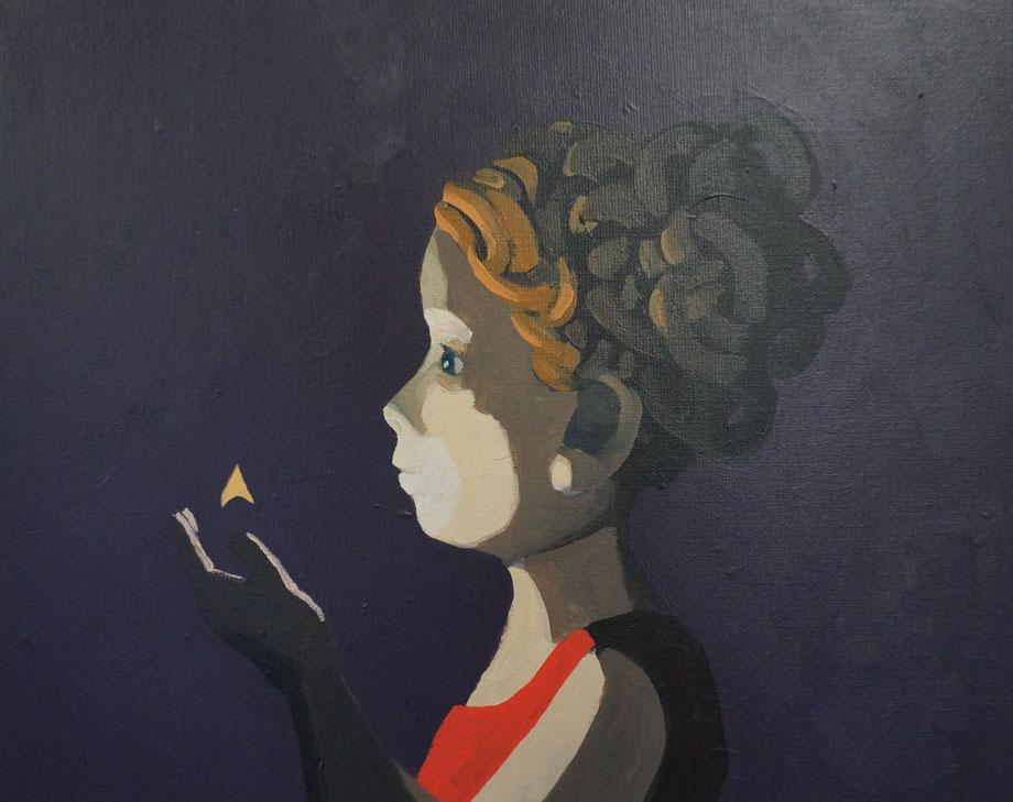 flame - Acryl auf Leinwand, 40x50cm, 2018 | verkauft