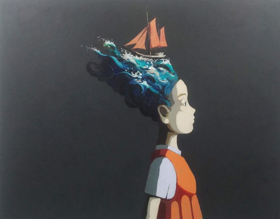 seascape - Acryl auf Leinwand, 80x100cm, 2019 | verkauft