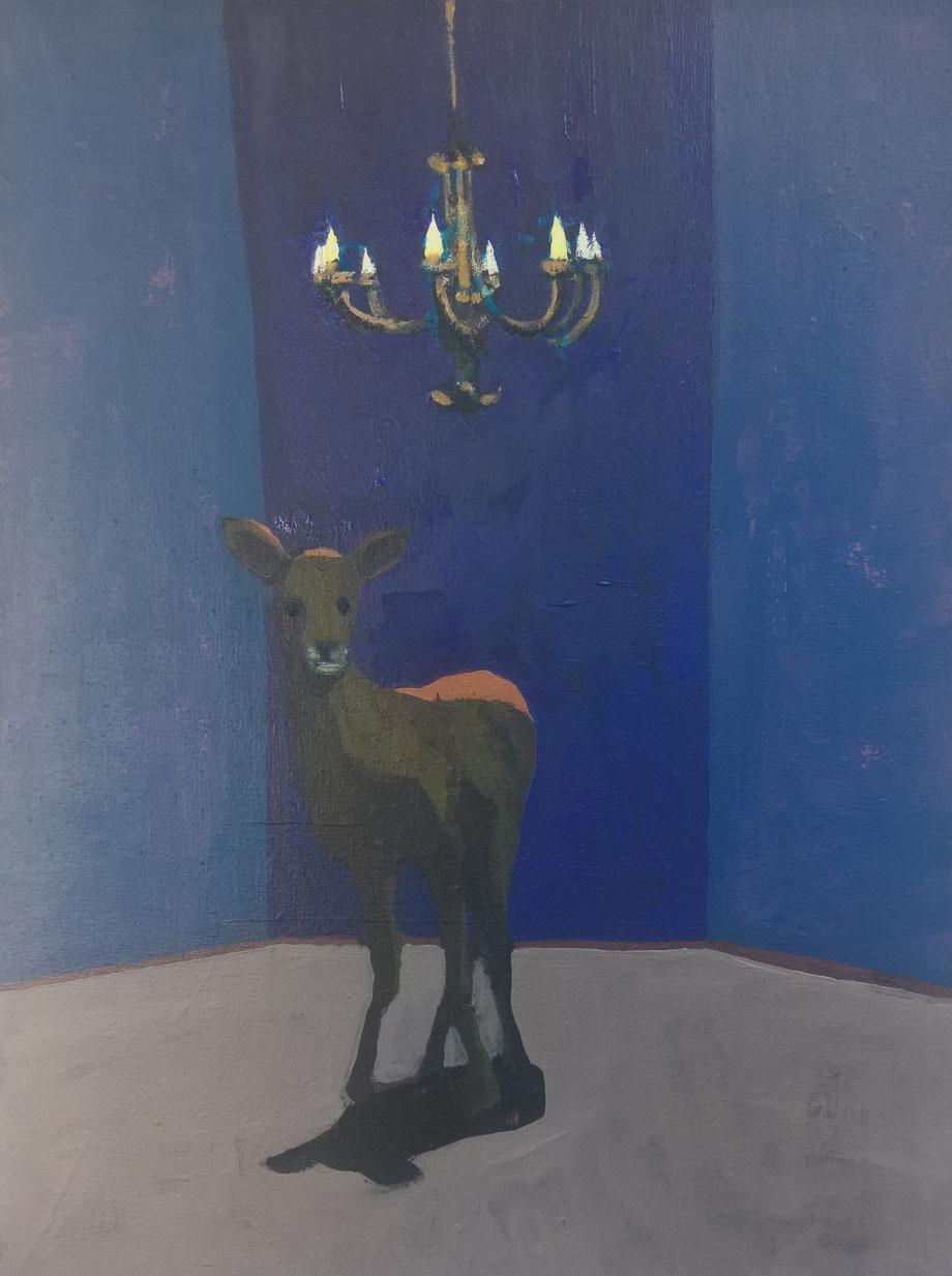 chandelier - Acryl auf Leinwand, 40x30cm, 2017
