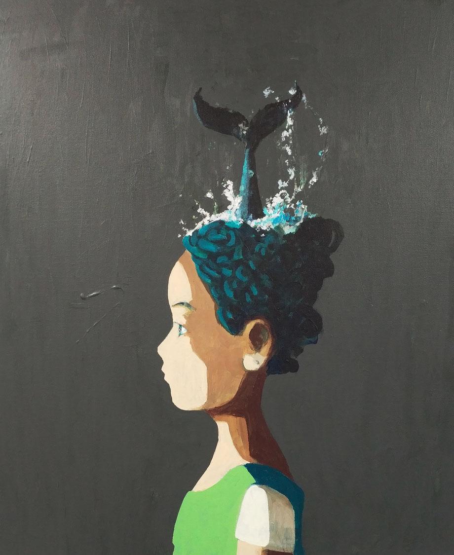whale - Acryl auf Leinwand, 60x50cm, 2019 | verkauft