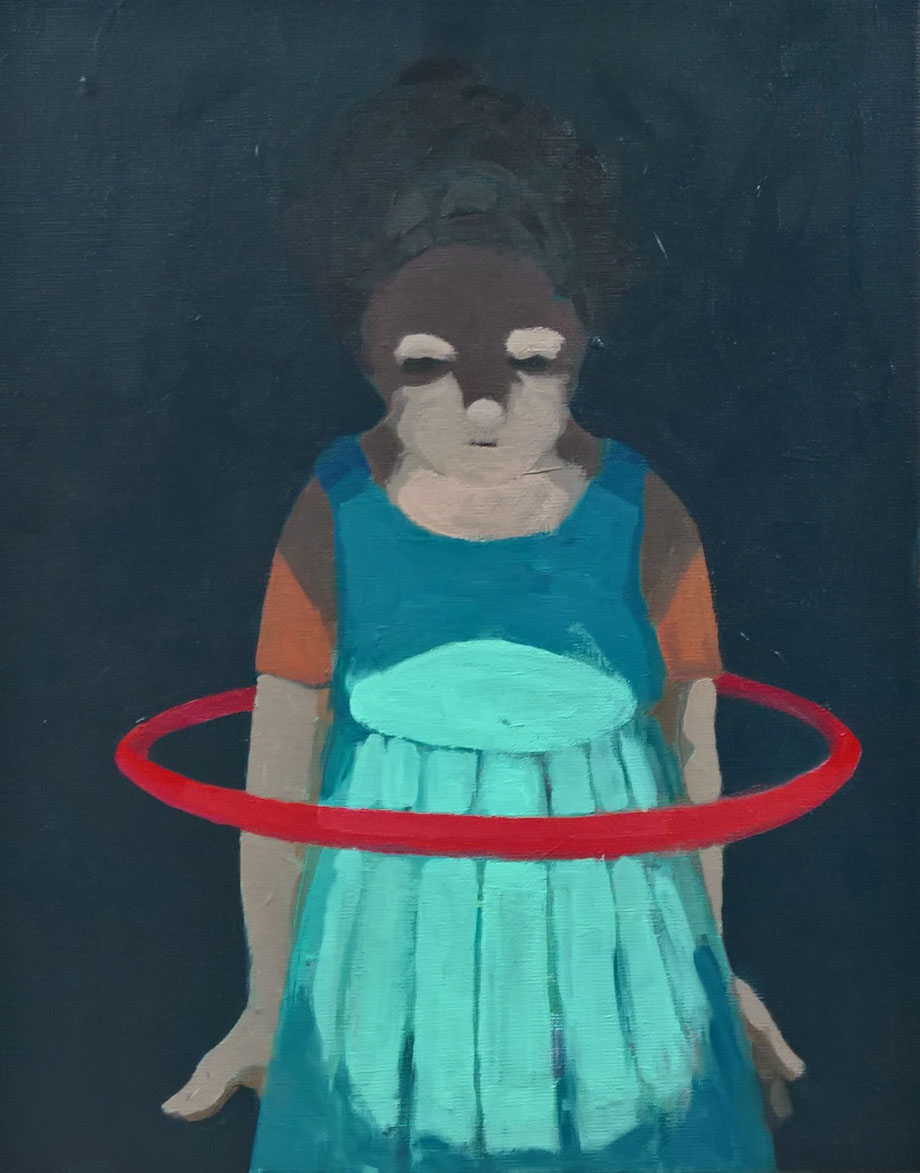 red hoop - Acryl auf Leinwand, 50x40cm, 2016