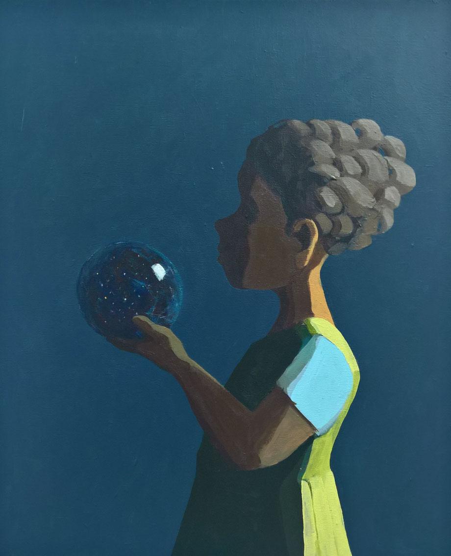 a ball full of night - Acryl auf Leinwand, 60x50cm, 2016
