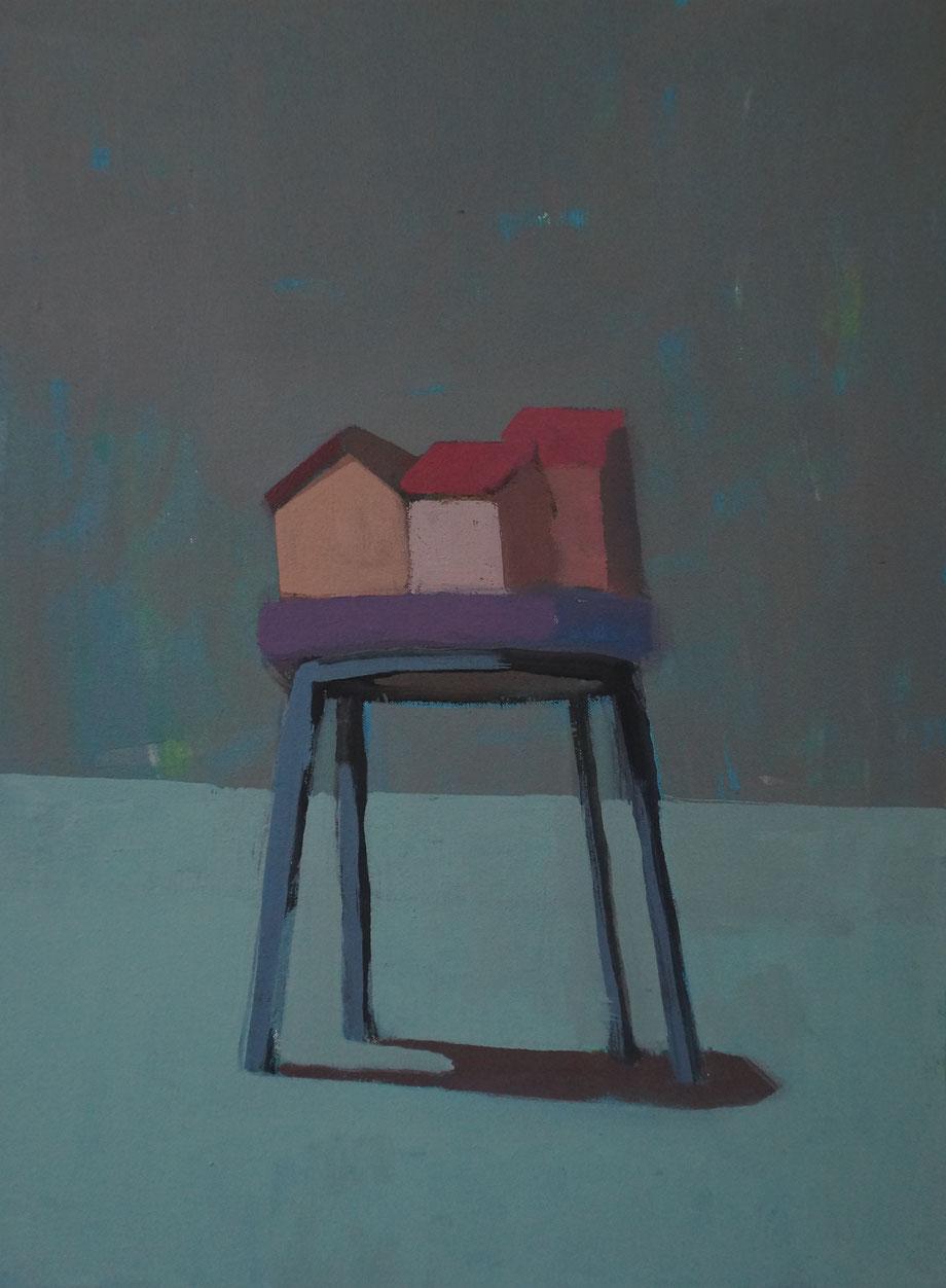 the village - Acryl auf Leinwand, 40x30cm, 2014 | verkauft
