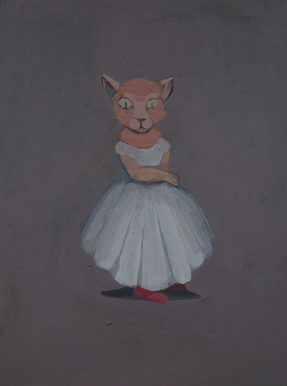 cat princess - Acryl auf Leinwand, 40x30cm, 2014 | verkauft