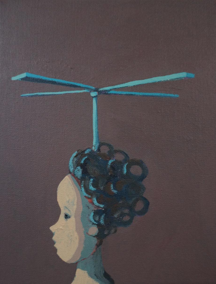 tiny tales - Acryl auf Leinwand, 30x24cm, 2014 | verkauft
