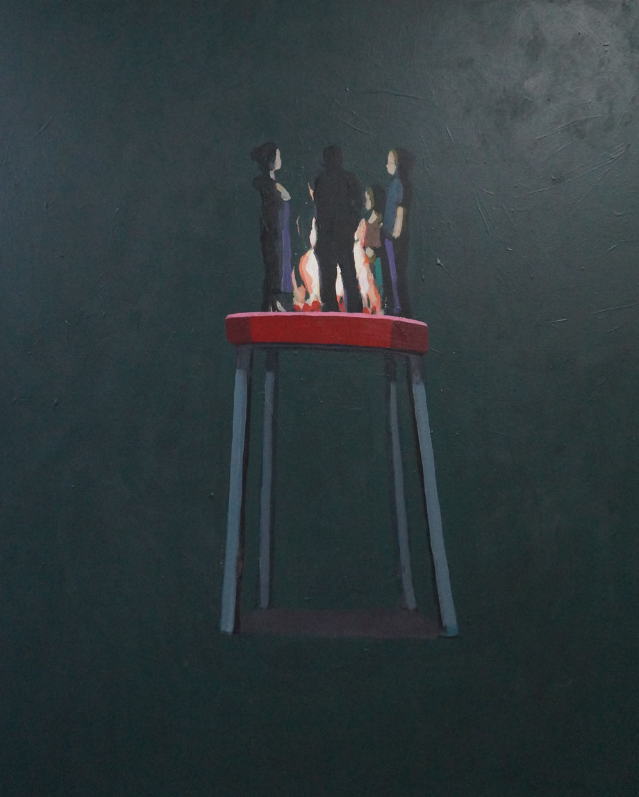 bonfire - Acryl auf Leinwand, 110x90cm, 2015